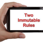 2 Immutable Social Media Rules (for today)
