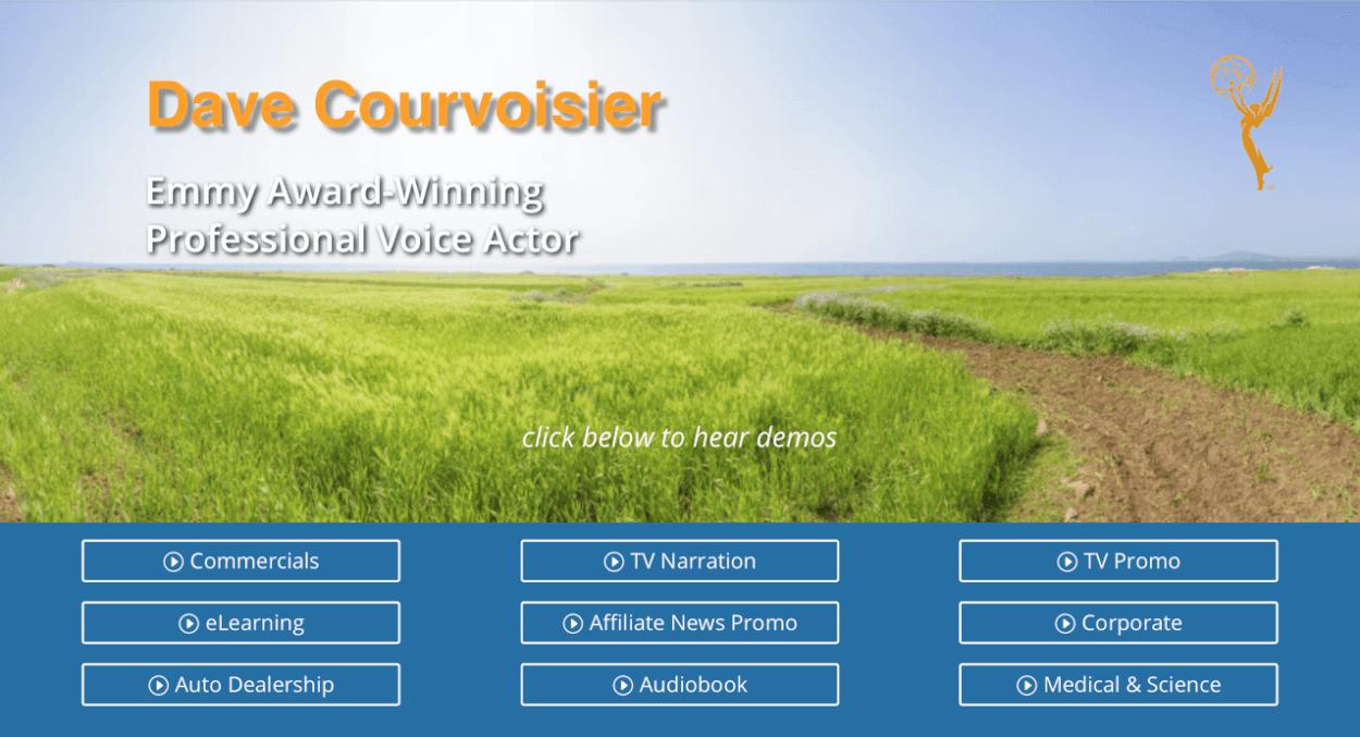 Pro VoiceOver Artist|Dave Courvoisier~A Voice that delivers!